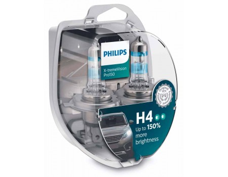 Галогенные лампы Philips Xtreme Vision Pro150 +150% H4 12v 60/55w 12342xvpb1