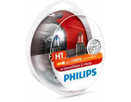 Галогенные лампы Philips Xtreme Vision G-force +130% H1 12v 55w 12258xvgs2