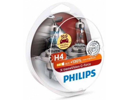 Галогенные лампы Philips Xtreme Vision G-force +130% H4 12v 60/55w 12342xvgs2