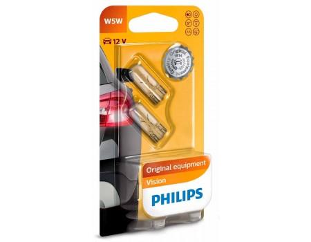 Лампа Philips W5W 12v 5w 12961b2