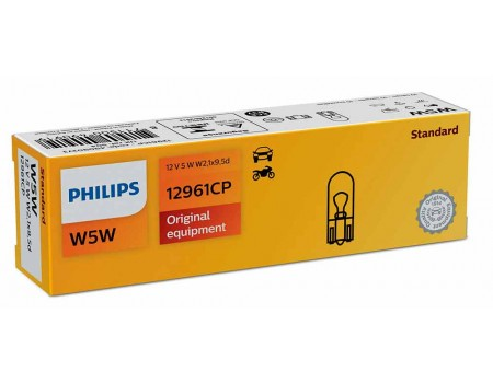 Лампа Philips W5W 24v 5w 12961cp
