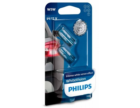 Лампа Philips White Vision W5W 12v 5w 12961nbvb2