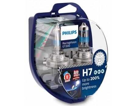Галогенные лампы Philips Racing vision GT200 +200 H7 55w 12372rgts2