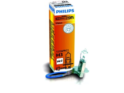 Галогенная лампа  Philips Vision +30% H3 12v 55w 12336prс1