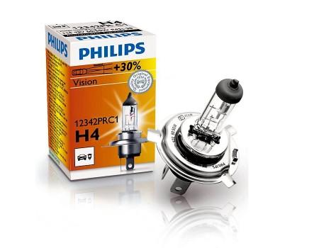 Галогенная лампа  Philips Vision +30% H4 12v 60/55w 12342prс1