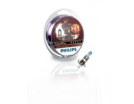 Галогенные лампы Philips Vision Plus +60% H1 12v 55w 12258vps2