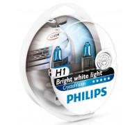Галогенные лампы Philips Crystal Vision H1 12v 55w 12258cvsm