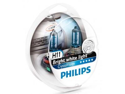 Галогенные лампы Philips Crystal Vision H11 12v 55w 12362cvsm
