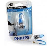 Галогенные лампы Philips Crystal Vision H3 12v 55w 12336cvb1