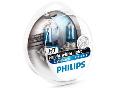 Галогенные лампы Philips Crystal Vision 4300k H7 12v 55w 12972cvsm