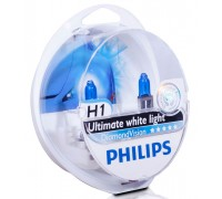 Галогенные лампы Philips Diamond Vision 5000k H1 12v 55w 12258dvs2