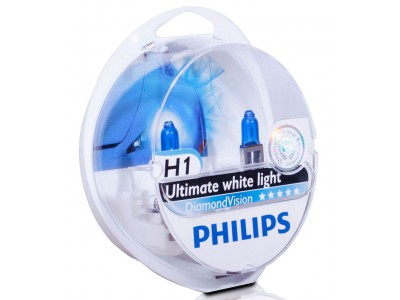 Галогенные лампы Philips Diamond Vision 5000k H1 12v 55w 12258dvs2