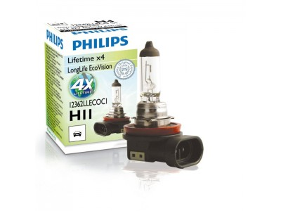 Галогенная лампа Philips Long Life Eco Vision H11 12v 55w 12362llecoc1