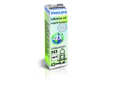 Галогенная лампа Philips Long Life Eco Vision H3 12v 55w 12336llecoc1