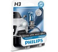 Галогенная лампа Philips White Vision +60% 4300k H3 12v 55w 12336whvb1