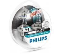 Галогенные лампы Philips Xtreme Vision +130% H4 12v 60/55w 12342xv+s2