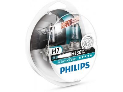 Галогенные лампы Philips Xtreme Vision +130% H7 12v 55w 12972xv+s2