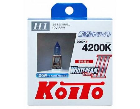 Галогенные лампы KOITO WHITEBEAM III H1 12v 55w P0751W