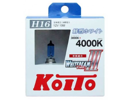 Галогенные лампы KOITO WHITEBEAM III H16 12v 19w P0749W