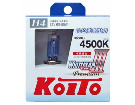 Галогенные лампы KOITO WHITEBEAM III H4 Premium 12v 60/55w P0744W