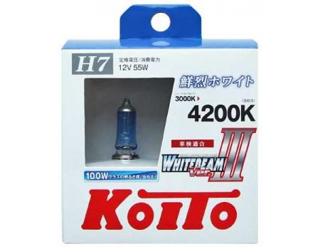 Галогенные лампы KOITO WHITEBEAM III H7 12v 55w P0755W