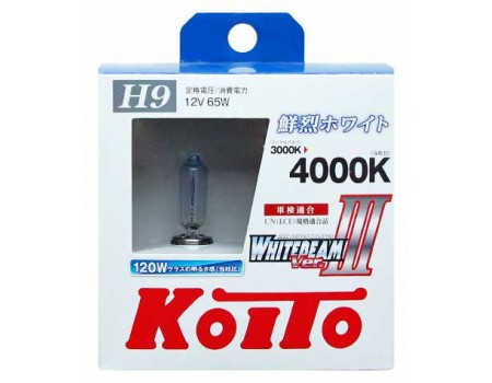 Галогенные лампы KOITO WHITEBEAM III H9 12v 65w P0759W