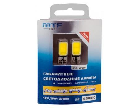 Габаритные светодиодные лампы MTF Light W5W COB 4500K