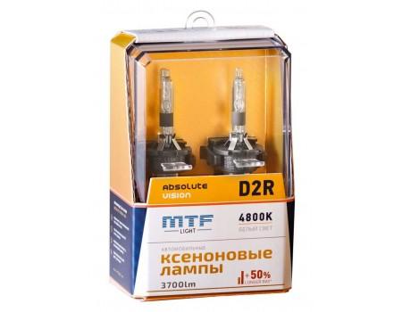 Ксеноновая лампа D2R MTF Absolute Vision +50% 3700lm 4800k avbd2r 2шт