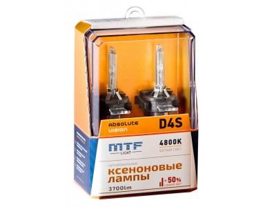 Ксеноновая лампа D4S MTF Absolute Vision +50% 3700lm 4800k avbd4s 2шт