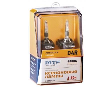 Ксеноновая лампа D4R MTF Absolute Vision +50% 3700lm 4800k avbd4r 2шт