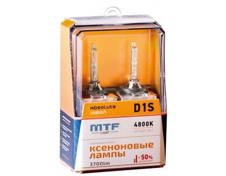 Ксеноновая лампа D1S MTF Absolute Vision +50% 3700lm 4800k avbd1s 2шт