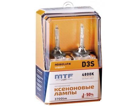 Ксеноновая лампа D3S MTF Absolute Vision +50% 3700lm 4800k avbd3s 2шт