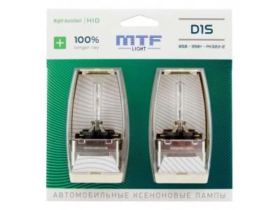 Ксеноновая лампа D1S MTF Night Assistant +100% 4800k nabd1s 2шт
