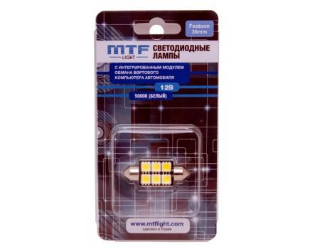 Салонная светодиодная лампа MTF Light C5W CAN-BUS 5000K