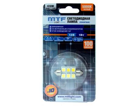 Салонная светодиодная лампа MTF Light C5W 5000K