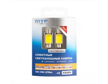 Салонные светодиодные лампы MTF Light C5W COB 4500K