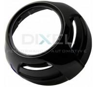 Декоративная бленда (маска) для линзы 3 дюйма круглая черная 6908 (2шт)