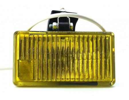 Дополнительная фара противотуманного света ОСВАР квадратная желтая (к-т с крышками)