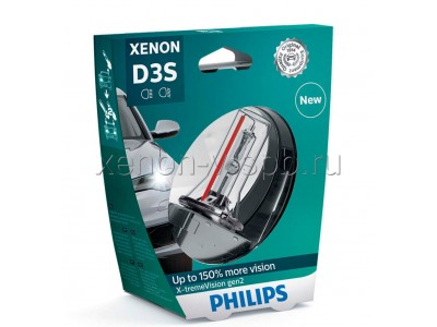 Ксеноновая лампа D3S Philips X-treme Vision gen2 +150% 42403xv2c1 42403xv2s1