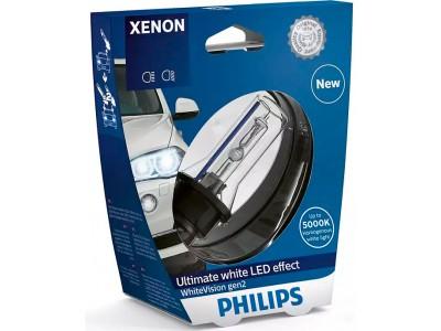 Ксеноновая лампа D1S Philips White Vision2  +120% 5000K 85415wxv2s1