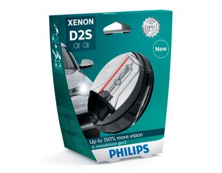 Ксеноновая лампа D2S Philips X-treme Vision gen2 +150% 85122xv2s1 85122xv2c1