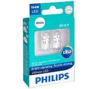 Габаритные светодиодные лампы Philips W5W T10 Ultinon LED 6000k 12v 11961ulwx2
