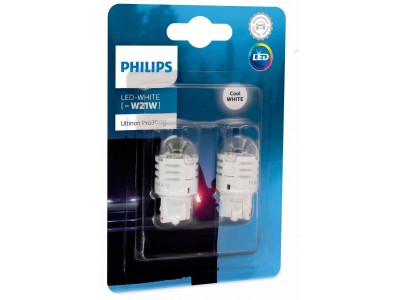 Светодиодная лампа Philips W21W Ultinon Pro3000 LED 12v 11065u30cwb2