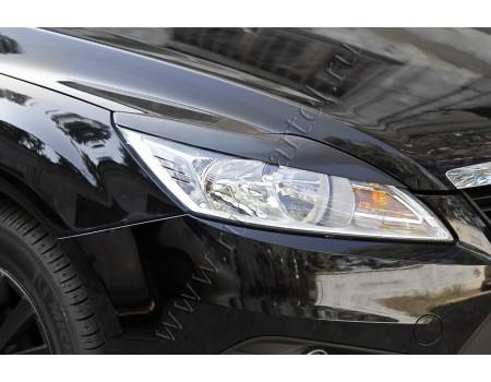 """Накладки на фары """"Реснички"""" для Ford Focus II рестайлинг (2008-2011г) REFF-004900"""