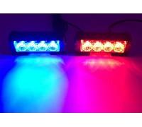 Светодиодные стробоскопы 4 LED  красно-синие