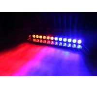 Светодиодные стробоскопы 12 LED  красно-синие (на стекло)