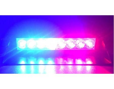 Светодиодные стробоскопы 8 LED  красно-синие (на стекло)